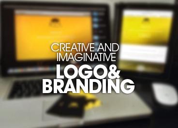 Logotipo y marca creativa e imaginativa.